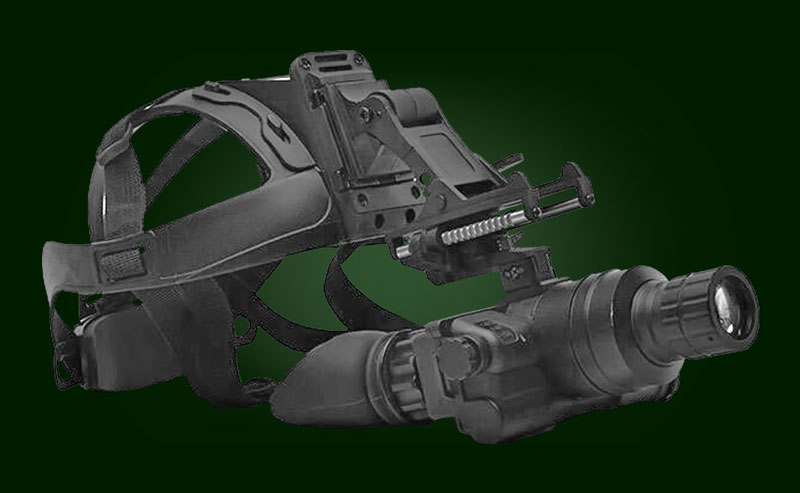 Night vision goggles GNV-X on a helmet