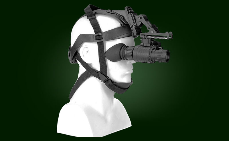Night vision monocular Mini MNV-X on a helmet
