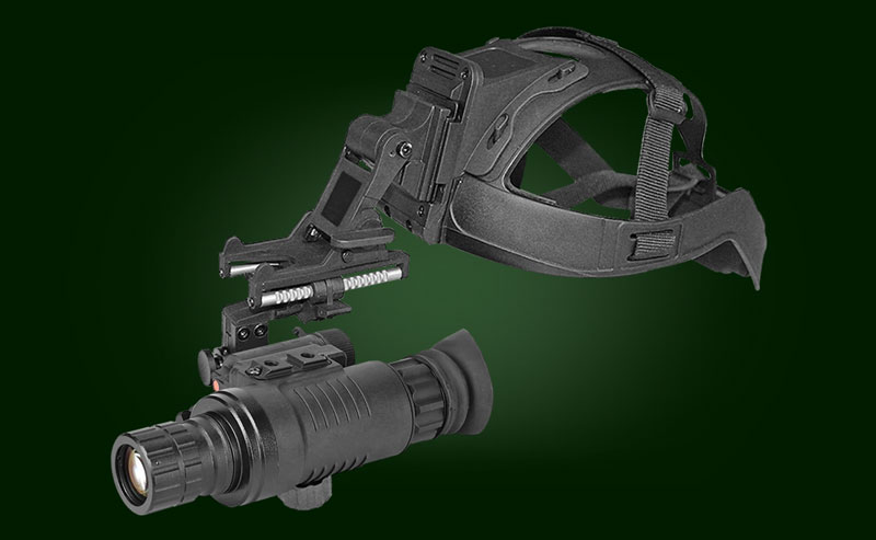 MNV night vision monocular on a helmet