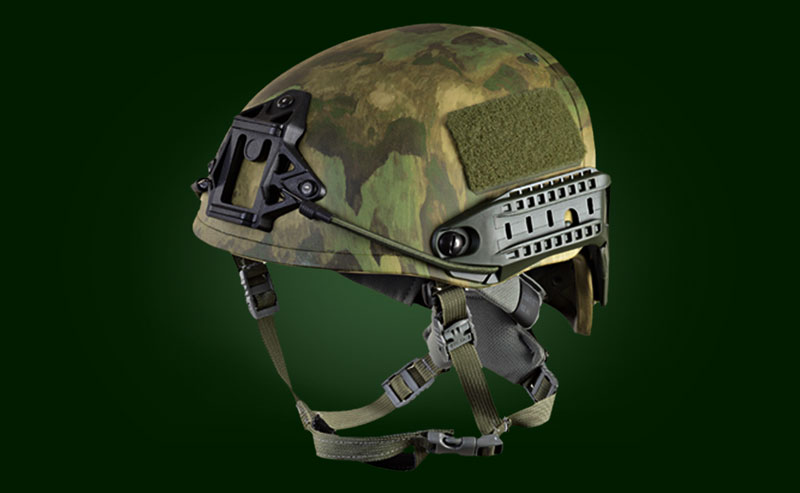 helmet for two channel night vision device